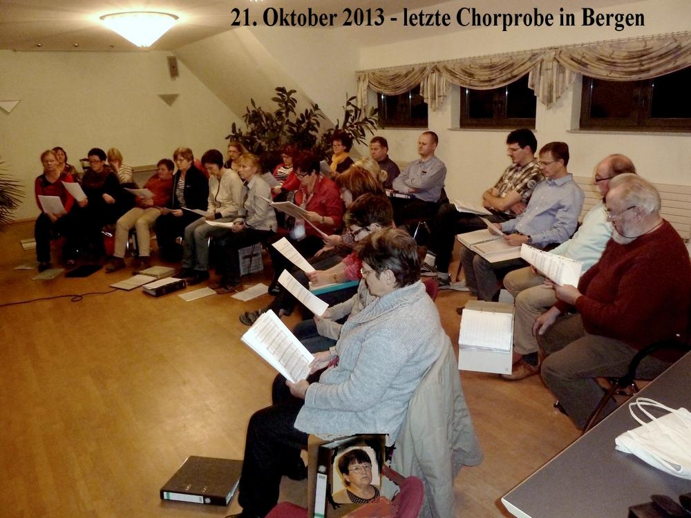 Die letzte Chorprobe in Bergen