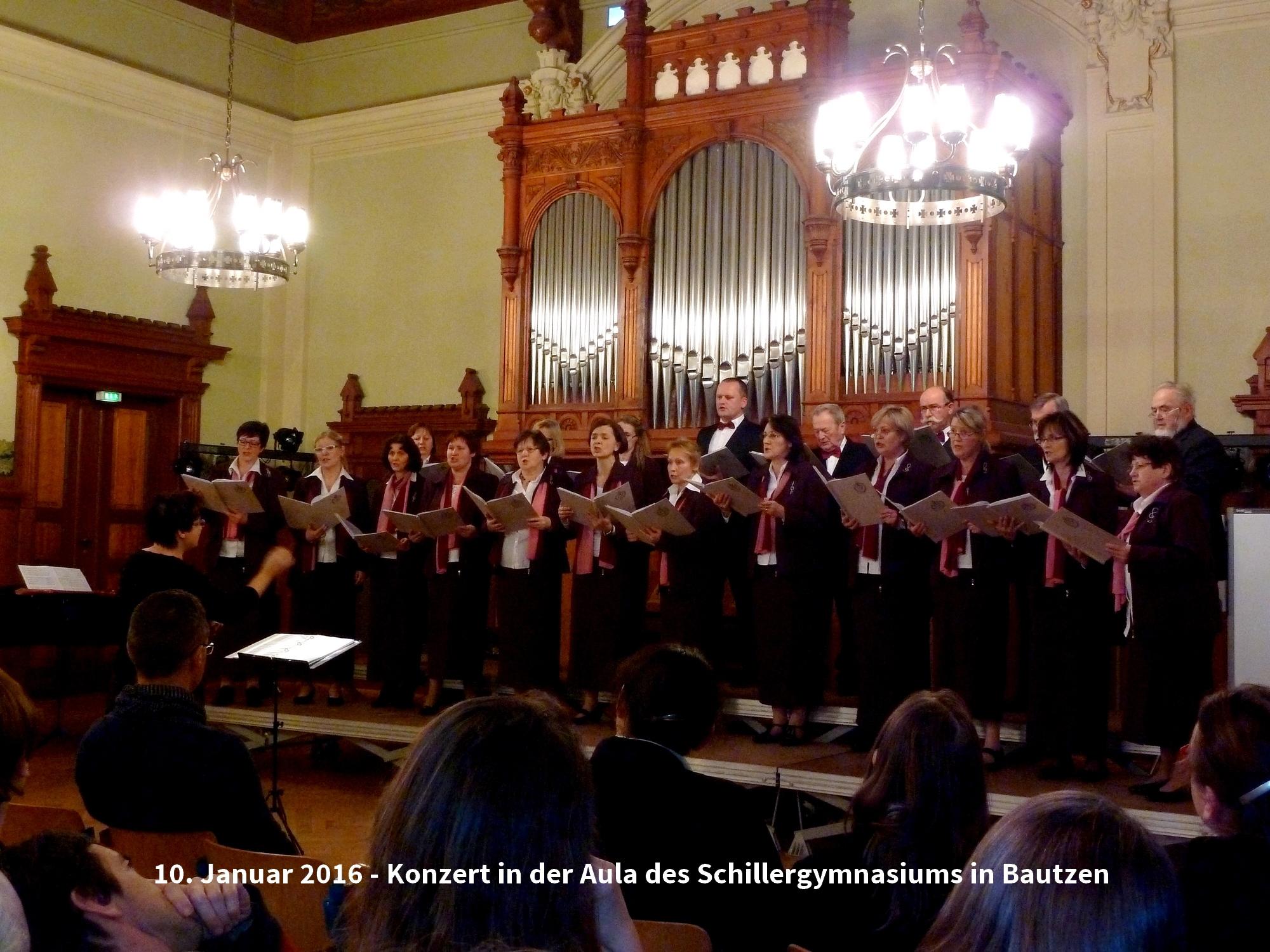 Konzert in der Aula des Schillergymnasiums Bautzen